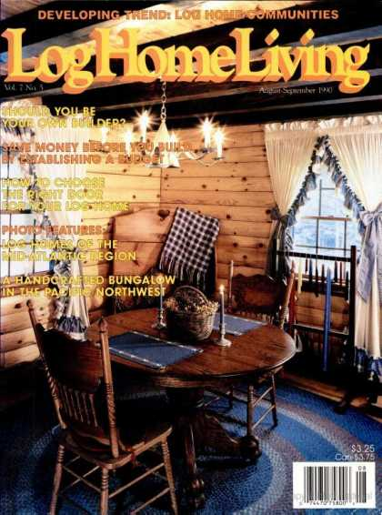 Log Home Living - August 1990