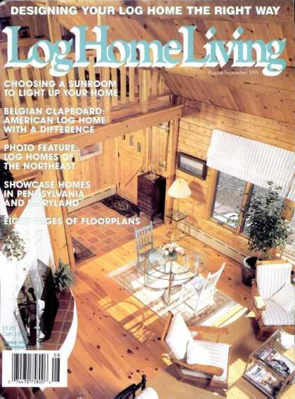 Log Home Living - August 1991