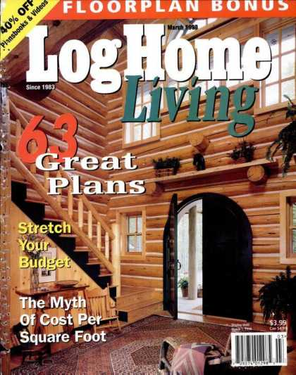 Log Home Living - March 1998