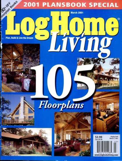 Log Home Living - March 2001
