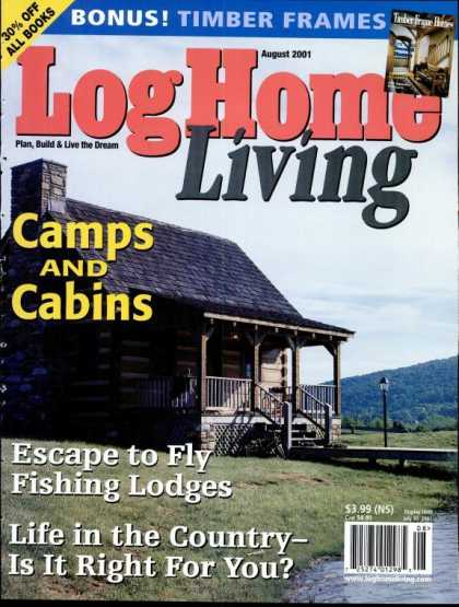 Log Home Living - August 2001