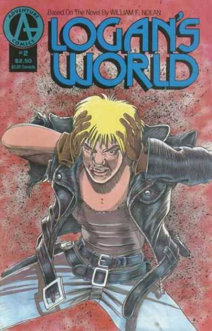 Logan's World 2 - Adventure Comics - William F Nolan - Blonde - Man - Leather Jacket