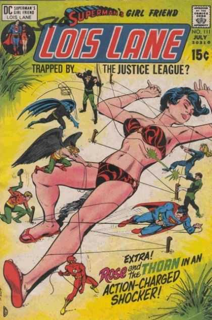 Lois Lane 111 - Spermans Girlfriend - Dc - 15 Cents - Trapped By The Justice League - No 111