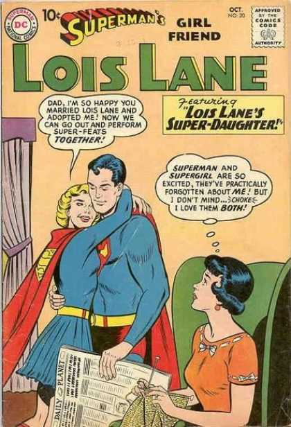 Lois Lane 20 - Supergirl - Superman - Embrace - Family - Dc Comics