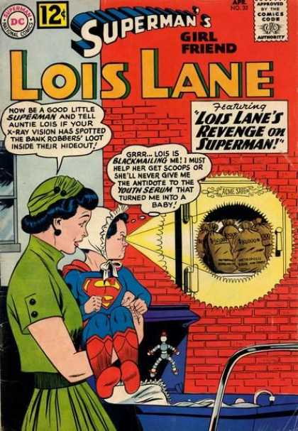 Lois Lane 32 - Supermans Girl Friend - Superbaby - Green Hat - Dc - Bank Vault
