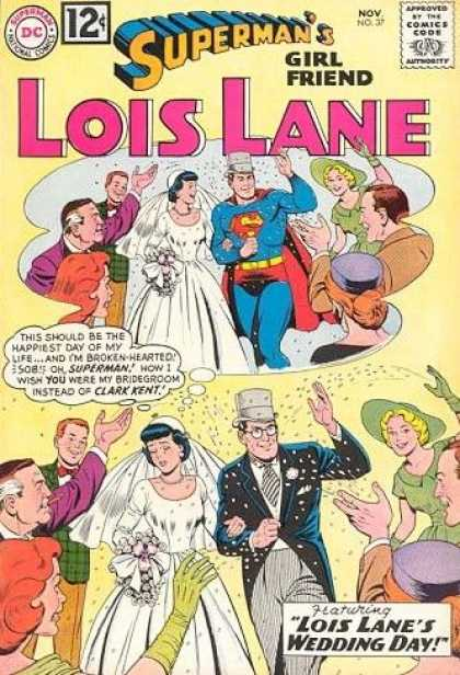 Lois Lane 37 - Clark Kent - Wedding Day - Perry White - Throwing Rice - Gown