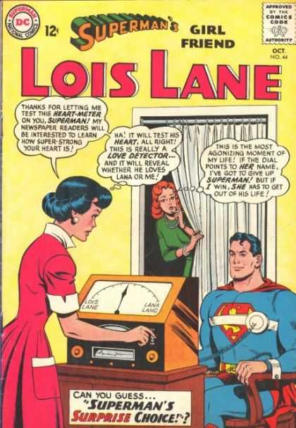 Lois Lane 44 - Supermans Girl Friend - Lois Lane - Heart Meter - Love Detector - Pink Dress