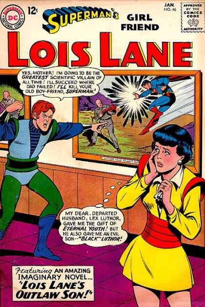 Lois Lane 46 - Superman - Comics Code - Woman - Man - Painting