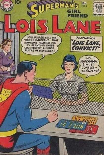 Lois Lane 6 - Superman - National Comics - Approved By The Comics Code Authority - 1g 2308 - Featuring Lois Lane Convict