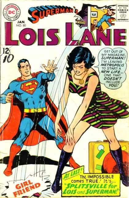 Lois Lane 80 - Superman - Girlfriend - Breakup - Suitcase - Dc Comics