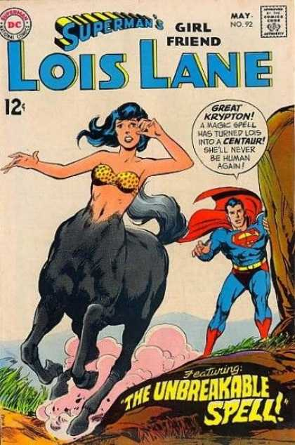 Lois Lane 92 - Dc - 12c - Supermans Girl Friend - May No 92 - The Undreakable Spell