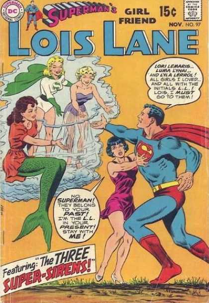 Lois Lane 97 - Mermaid - Red Cape - Green Cape - Red Dress - Purple Dress