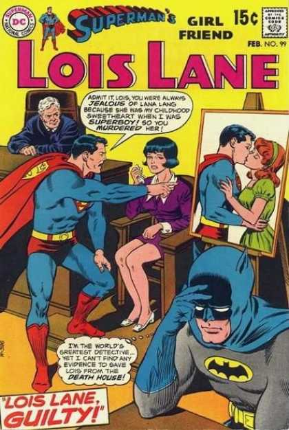 Lois Lane 99 - Judge - Batman - Court Room - Superman Kissing - Lois Lane Guilty