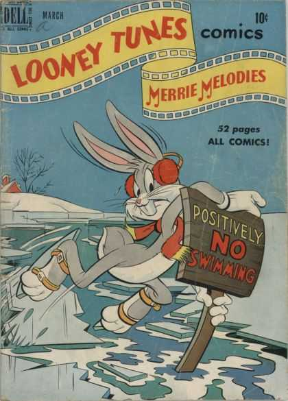 Looney Tunes 101 - Dell - Bugs Bunny - Red Scarf - Red Ear Muffs - Merrie Melodies