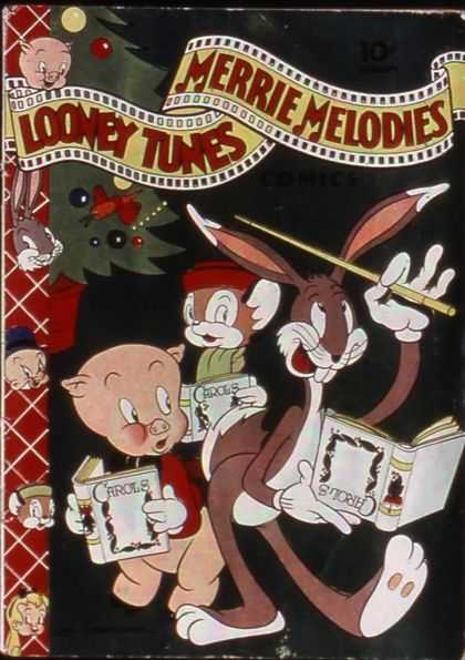 Looney Tunes 15 - Bugs Bunny - Merrie Melodies - Christmas Tree - Film Strip - Christmas Carols