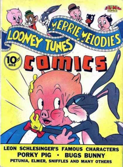 Looney Tunes 2 - Bugs Bunny - Porky Pig - Kiss - Blush - Embarrassed