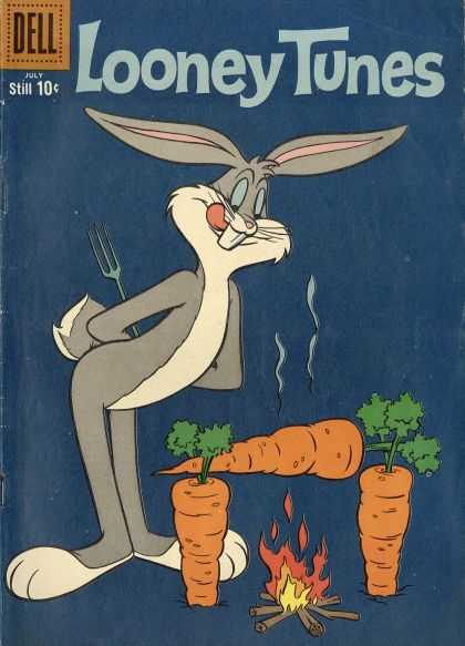 Looney Tunes 225 - Bugs - Bunny - Carrot - Fire - Dell