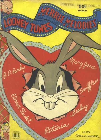 Looney Tunes 29 - Bugs Bunny - Porky Pig - Comics - Valentine - Heart