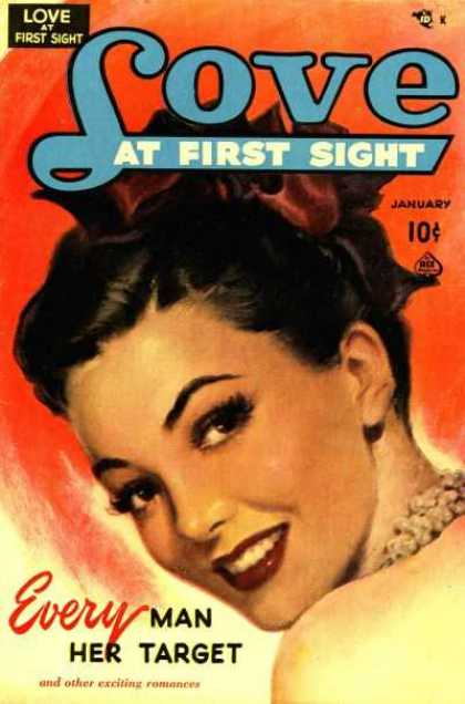 Love At First Sight 7 - Red Lips - Dark Hair - January - Every Man Her Target - Other Exciting Romances