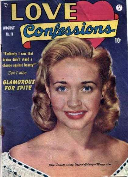 Love Confessions 11 - Blonde Girl - Glamorous For Spite - Blue Eyes - Beauty And Brains - Heart