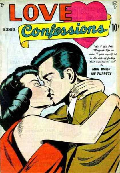 Love Confessions 2 - Pink Heart - Man And Woman Kissing - Brunettes - Men Were My Puppets - John Morgan