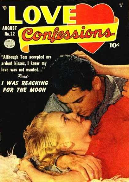 Love Confessions 22 - Kiss - Embrace - Man - Woman - Reaching For The Moon