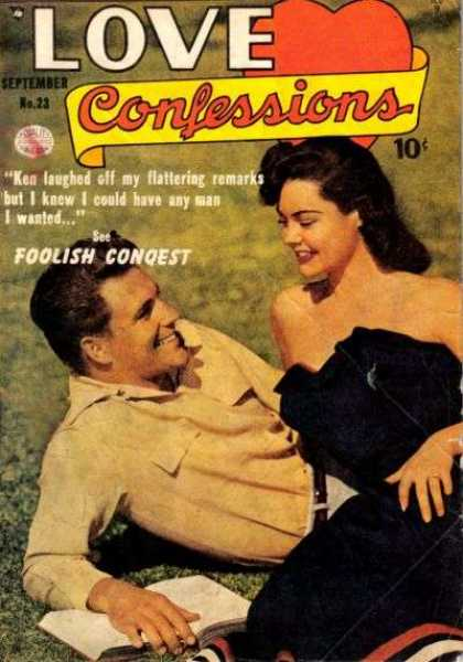 Love Confessions 23 - Foolish Conqest - Woman - Man - Grass - September No23