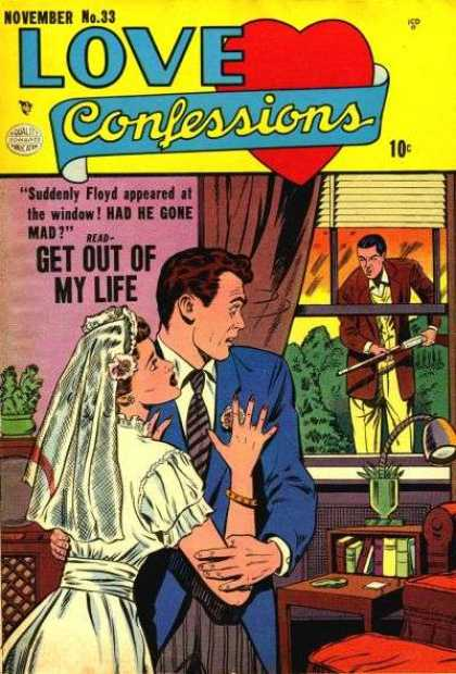 Love Confessions 33 - Window - Rifle - Bride - Groom - Floyd