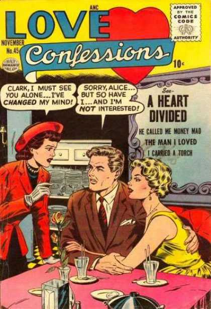 Love Confessions 45 - Heart Divided - Rose - Couple - Diner - Red Hat