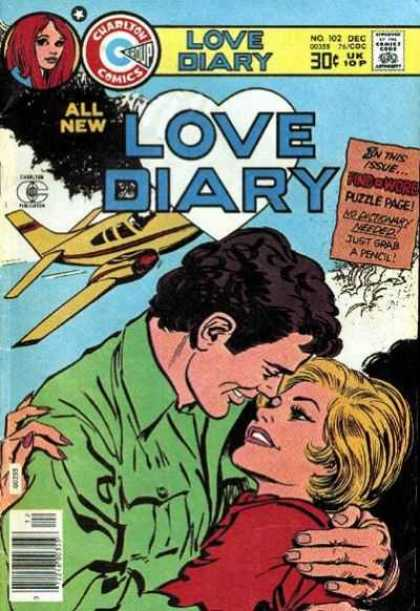 Love Diary 102 - Puzzle Page - All New - Charlton Comics - No Dictionary Needed - Just Grab A Pencil