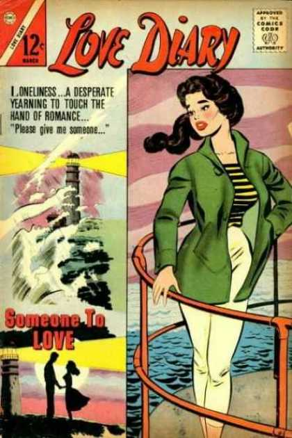 Love Diary 26 - Someone To Love - Lighthouse - Woman - Black Hair - Waves