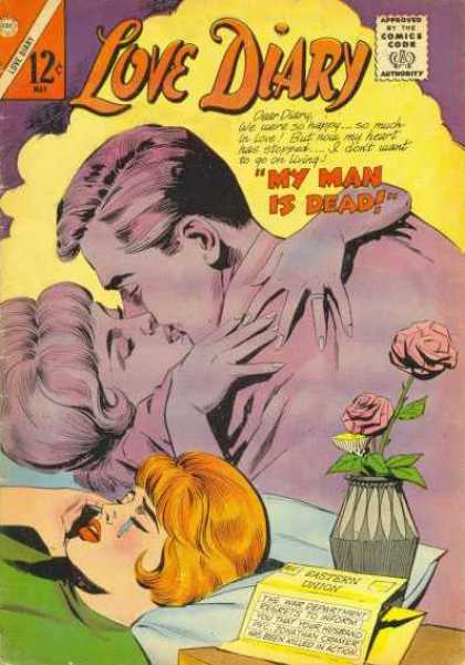 Love Diary 43 - My Man Is Dead - Roses - Easter Union - Couple Kissing - Vase