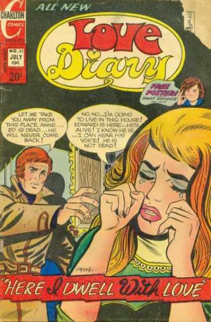Love Diary 85 - Charlton Comics - July - All New - Dwell With Love - Tear