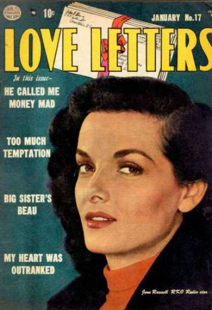 Love Letters 17 - He Called Me Money Mad - Too Much Temptation - Big Sisters Beau - My Heart Was Outranked - Jane Russell