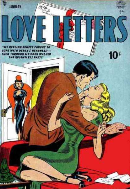 Love Letters 2 - Couple - Kissing - Door - Red Sofa - Dressed Up