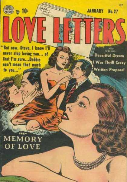 Love Letters 27 - Poster - Man - Lady - Necklace - Envelope