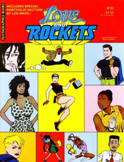 Love & Rockets 10 - Includes Special Portfolio Section - Man - Woman - Case - Cigarett