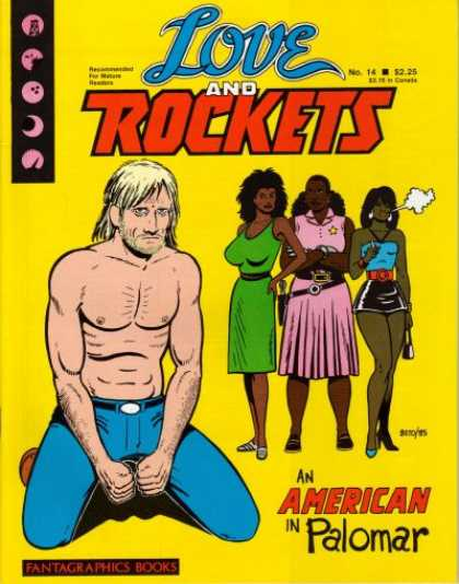 Love & Rockets 14 - American - Palomar - Three Black Girls - White Man - Cigarettes