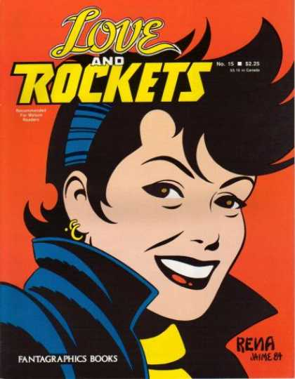 Love & Rockets 15 - Punk Hairstyle - Gold Earrings - Female - Fantagraphics Books - Rena
