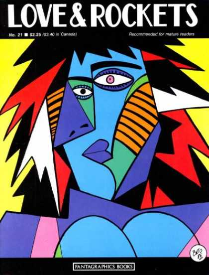 Love & Rockets 21 - Blue - Picasso - Blue Face - Strange Eyes