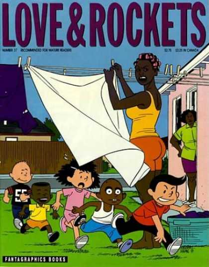 Love & Rockets 37 - Woman - Cloth - Rope - Child - Fantagraphics Books