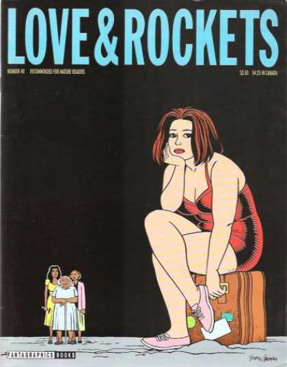 Love & Rockets 40 - Woman - Suitcase - Redhead - Minidress - Tennis Shoes