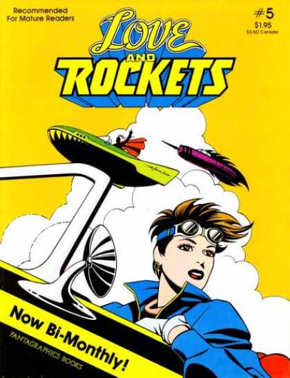Love & Rockets 5 - Clouds - Mature Readers - Bi-monthly - Planes - Rockets