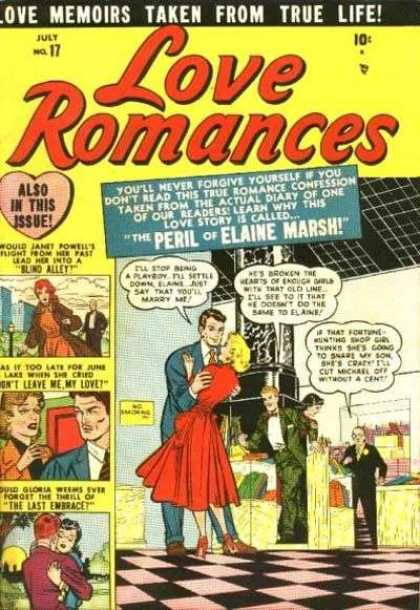 Love Romances 17 - Elaine Marsh - Peril - Love - True - Marry Me