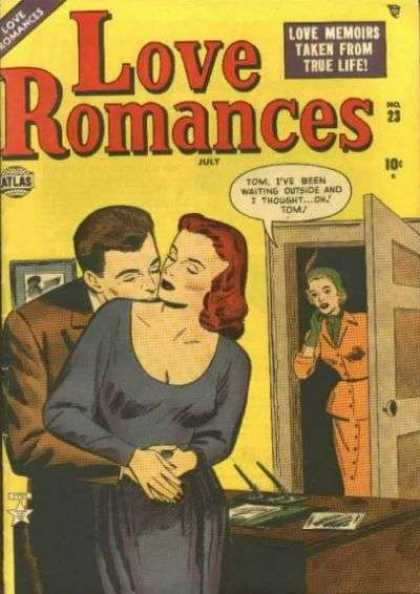 Love Romances 23 - Redhead - Atlas - July - 10 Cents - Making Out