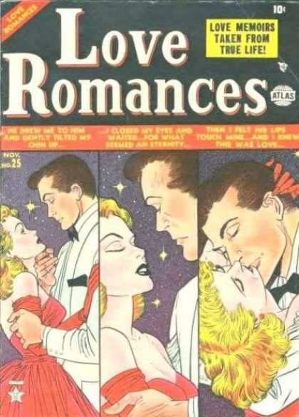 Love Romances 25 - Lady - Man - Stars - Kissing Scene - Love Affair