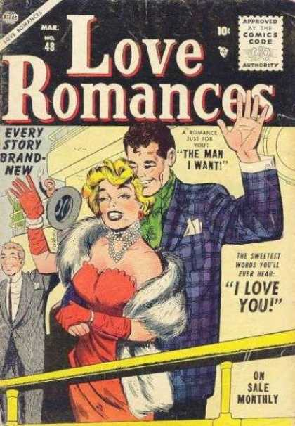 Love Romances 48 - March - Atlas - Blonde - The Man I Want - I Love You