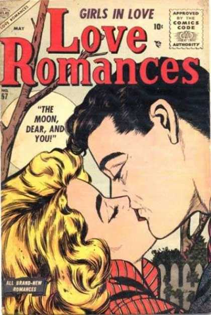 Love Romances 57 - Girls In Love - The Moon Dear And You - Blonde Hair - Kiss - Gate