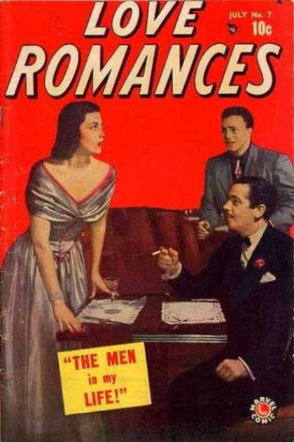 Love Romances 7 - The Men - Life - July - Cigarettes - Mixed Drink