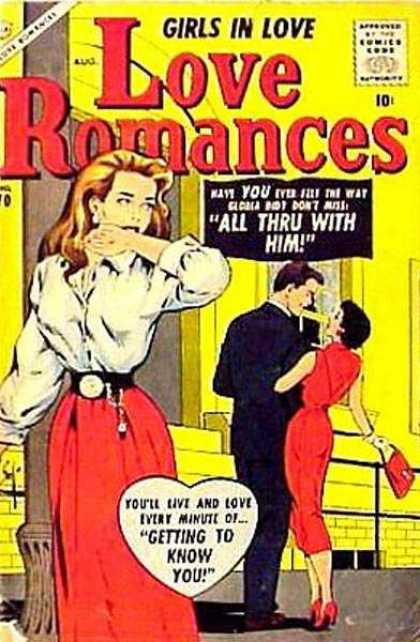 Love Romances 70 - All Thru With Him - Shock - Getting To Know You - Red Dress - Suit